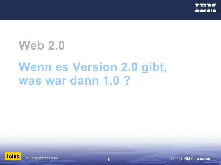 Web 2.0 Wenn es Version 2.0 gibt, was war dann 1.0 ?
