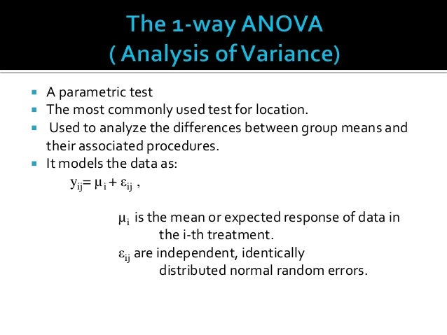 applying anova and nonparametric tests simulation essays It is an equivalent of anova in parametric tests and sometimes it is called one-way non-parametric anova test test apply the non-parametric simulation.