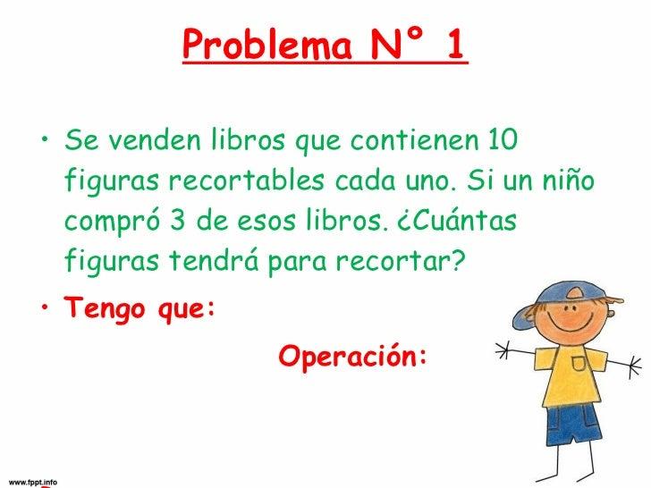 Problema N° 1 <ul><li>Se venden libros que contienen 10 figuras recortables cada uno. Si un niño compró 3 de esos libros. ...