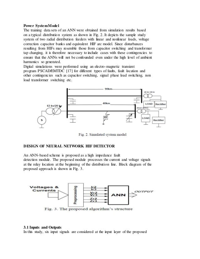 Power SystemModel The training data sets of an ANN were obtained from simulation results based on a typical distribution s...