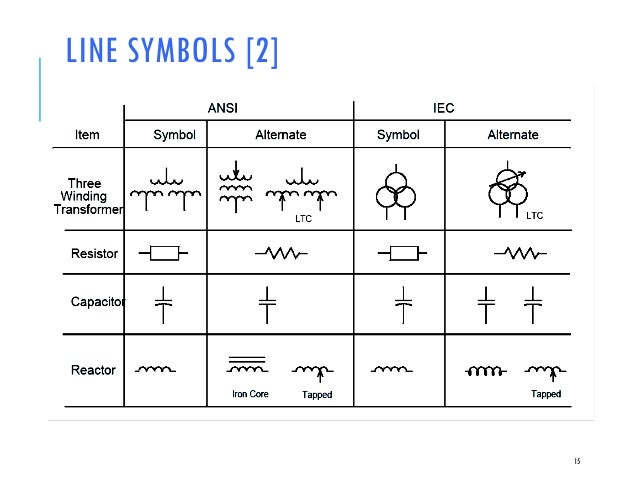 Iec Electrical One Line Diagram Symbols Somurichcom