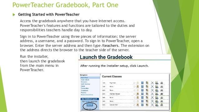 power teacher gradebook part one