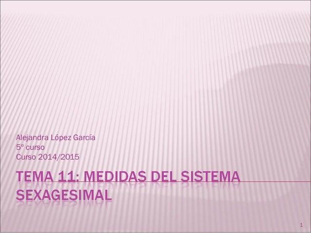 Alejandra López García 5º curso Curso 2014/2015 1