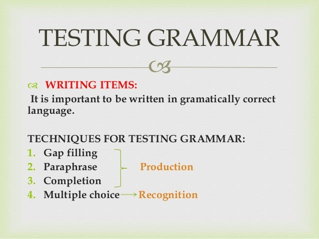 essay items in testing laguage skills It's important for students to prepare for standardized tests by  english language ability to hone in on specific areas of writing for test prep & skill.