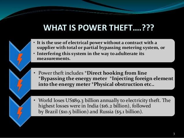 Power theft detection Slide 3
