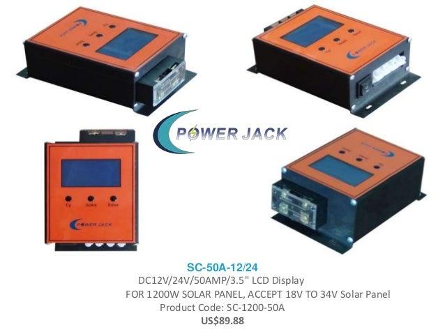"SC-50A-12/24 DC12V/24V/50AMP/3.5"" LCD Display FOR 1200W SOLAR PANEL, ACCEPT 18V TO 34V Solar Panel Product Code: SC-1200-5..."