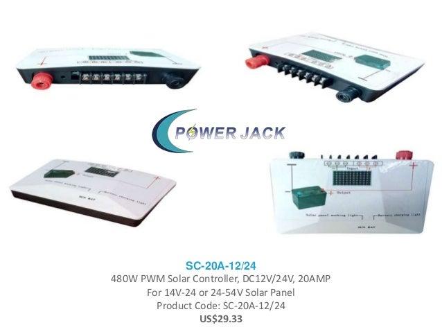 SC-20A-12/24 480W PWM Solar Controller, DC12V/24V, 20AMP For 14V-24 or 24-54V Solar Panel Product Code: SC-20A-12/24 US$29...