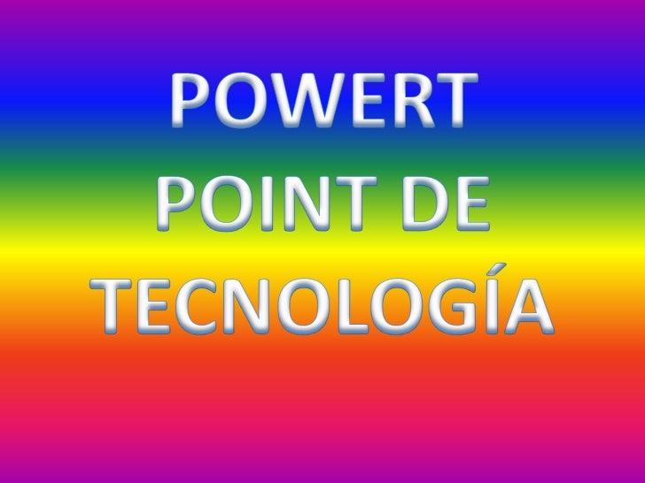 Powert point de tecnología