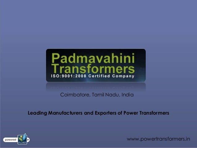 Coimbatore, Tamil Nadu, IndiaLeading Manufacturers and Exporters of Power Transformers                                    ...