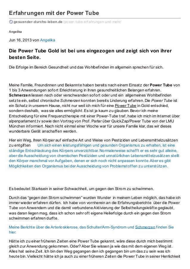 Erfahrungen mit der Power Tube gesuender-durchs-leben.de /power-tube-erf ahrungen-und-mehr/ Angelika  Jun 16, 2013 von Ang...