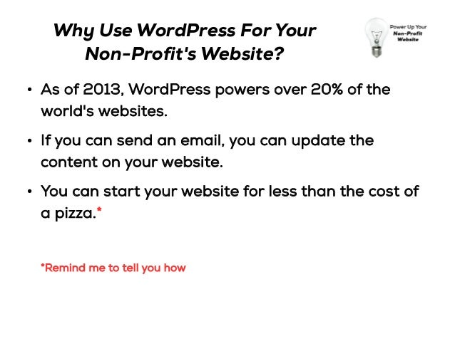 Power Up Your Non-Profit Website With WordPress Slide 3