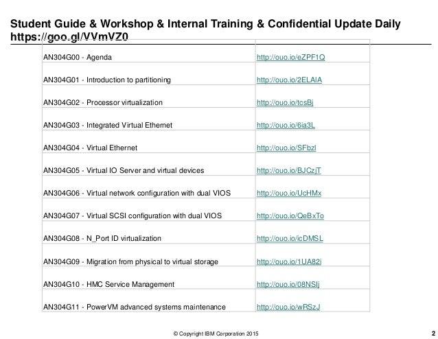 Student Guide & Workshop & Internal Training & Confidential Update Daily https://goo.gl/VVmVZ0 AN304G00 - Agenda http://ou...