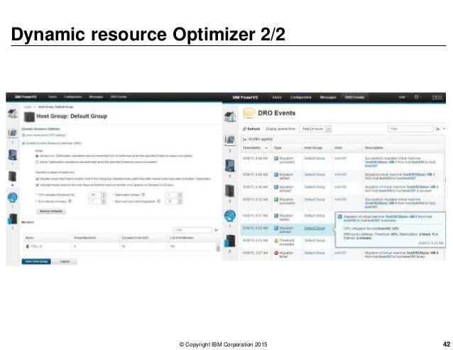 Dynamic resource Optimizer 2/2 © Copyright IBM Corporation 2015 42