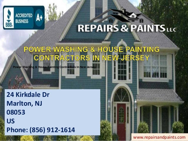 power washing house painting contractors in new jersey