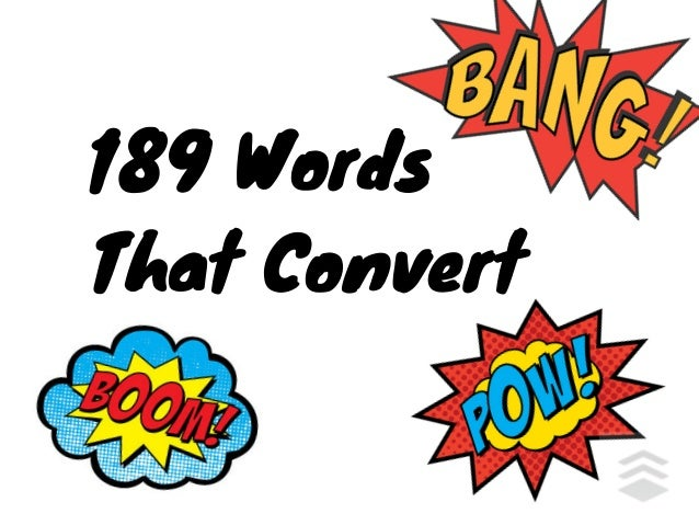 189 Words That Convert