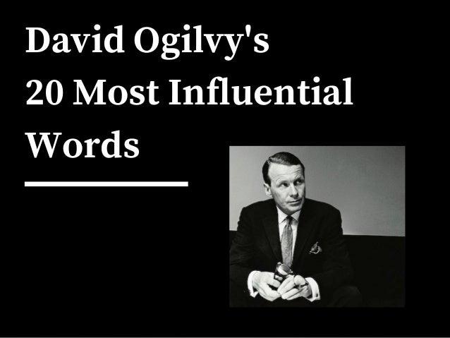 David Ogilvy's 20 Most Influential Words