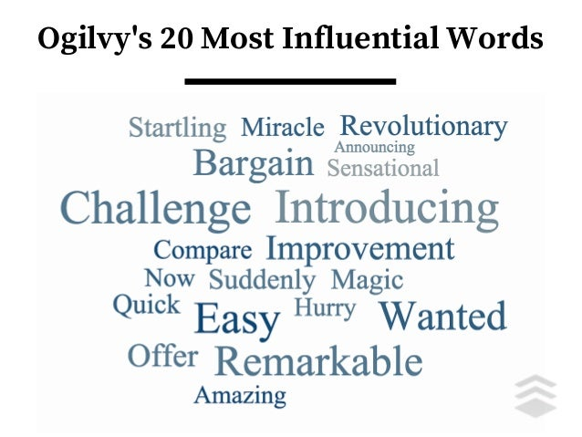 Ogilvy's 20 Most Influential Words