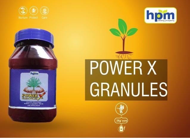 POWER X GRANULES 3Kg/ acre
