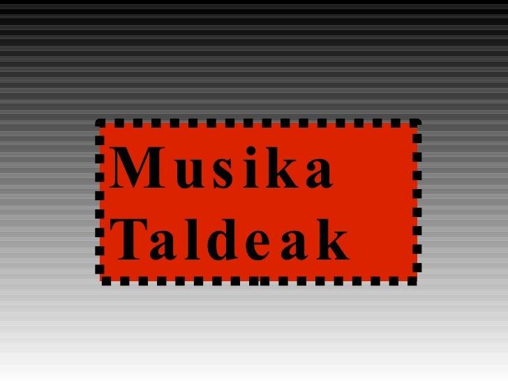 Musika Taldeak