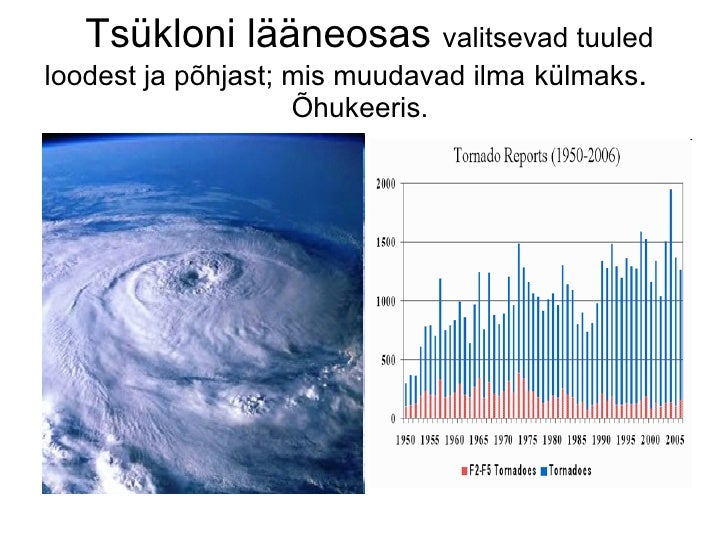 Tsükloni lääneosas  valitsevad tuuled loodest ja põhjast; mis muudavad ilma   külmaks .  Õhukeeris.