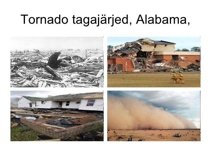 Tornado tagajärjed, Alabama,