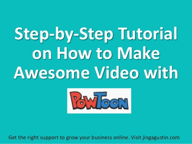 Step-by-Step Tutorial on How to Make Awesome Video with Get the right support to grow your business online. Visit jingagus...