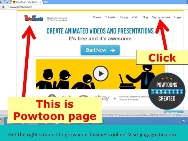 Step-by-Step Tutorial on How to Make Awesome Video with Powtoon Slide 3