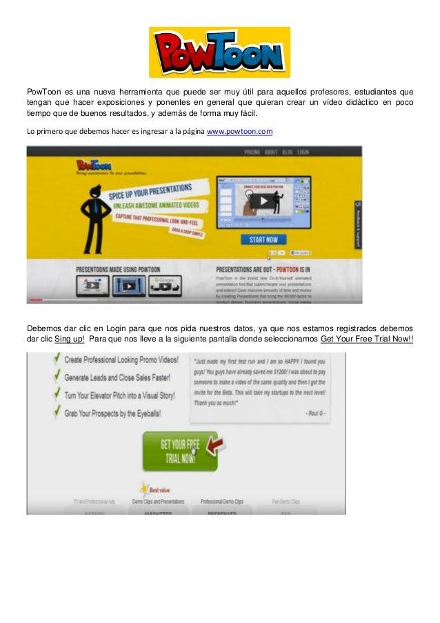 PowToon es una nueva herramienta que puede ser muy útil para aquellos profesores, estudiantes que tengan que hacer exposic...
