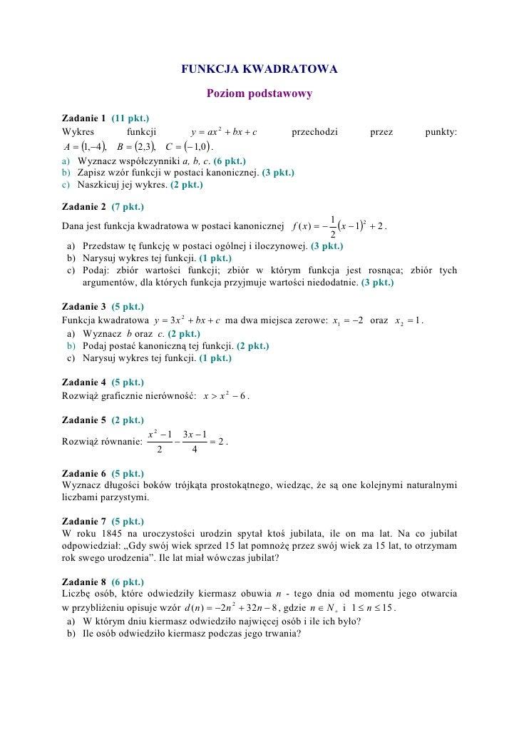 układy równań sprawdzian pdf