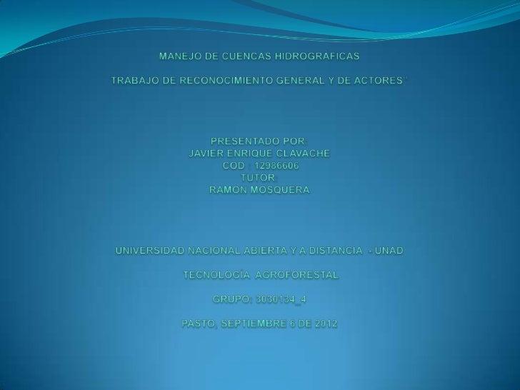UNIDAD 1: Síntomas de insostenibilidad global,                                   regional, y local, estrategias y acciones...