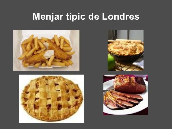 Menjar típic de Londres