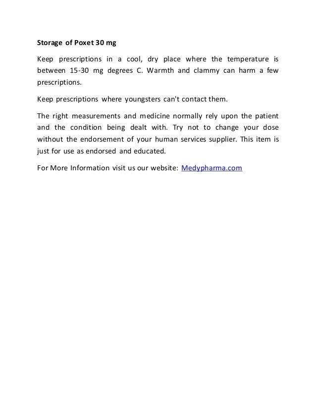 Poxet 30 mg micrograms