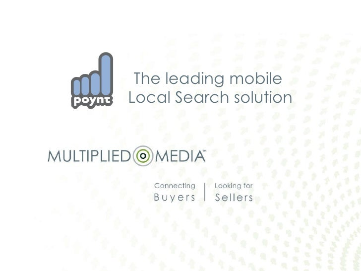The leading mobile  Local Search solution