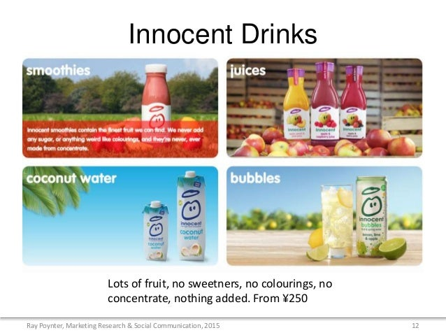 analysis of the innocent smoothies communication marketing essay Colin hopson student number: 0482647 i ii marketing communications analysis and plan you have been asked by the board of innocent drinks to.