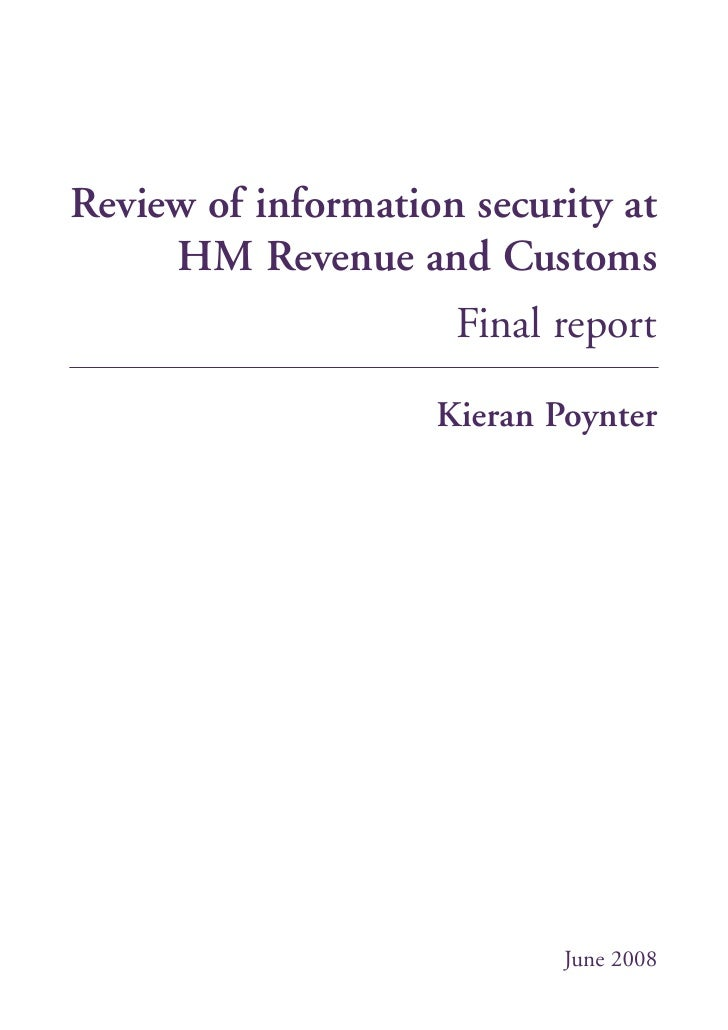 Review of information security at      HM Revenue and Customs                      Final report                      Kiera...