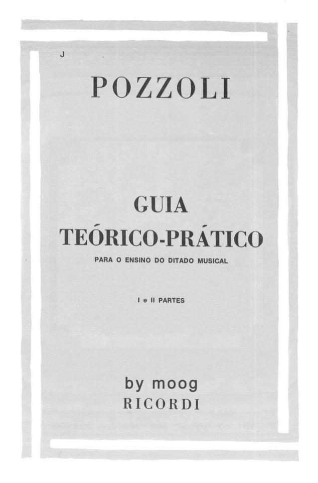 Pozzoli - Guia teórico prático para o ensino do ditado musical
