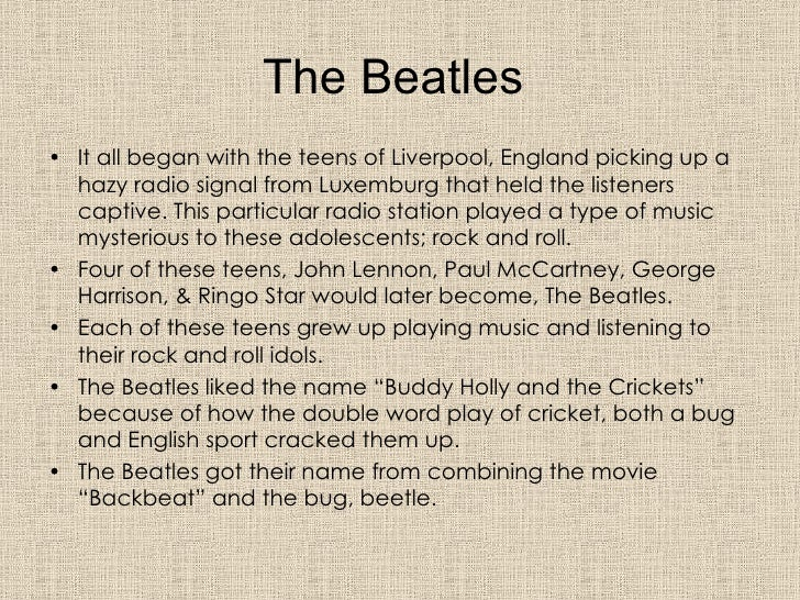 ... 3. The Beatles ...