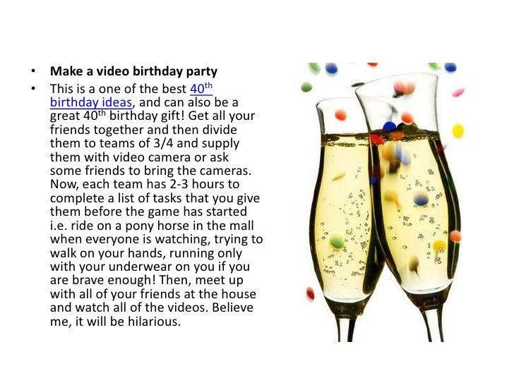 Top 40th Birthday Ideas On The Internet