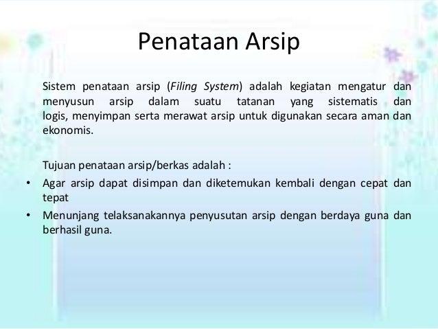 Penataan Arsip 638 Cb Sistem