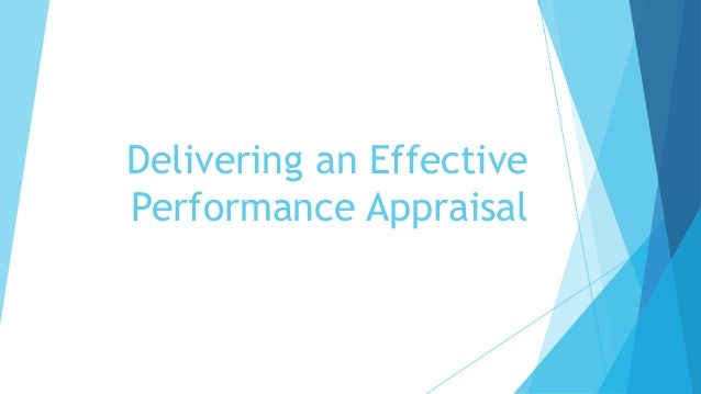 Delivering an Effective Performance Appraisal