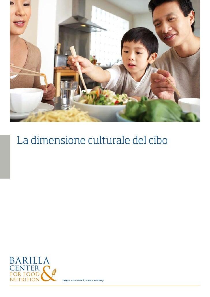 La dimensione culturale del cibo