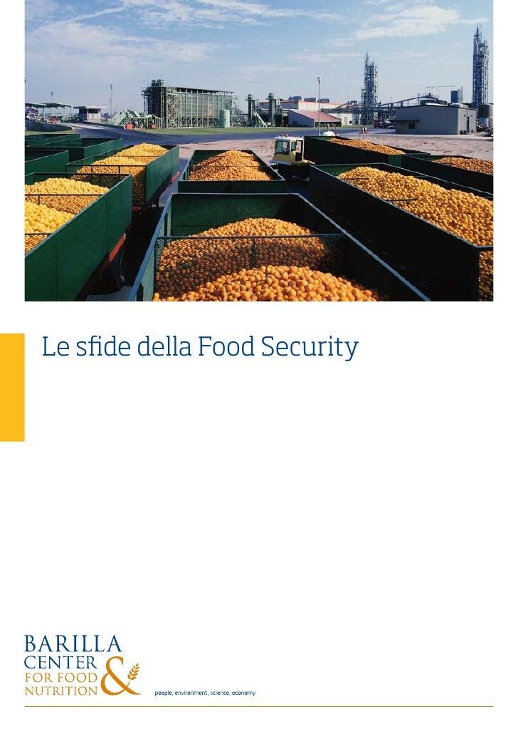 Le sfide della Food Security