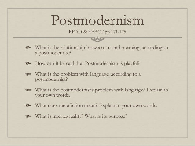 critical essay postmodernism This essay looks at the weaknesses and strengths of postmodern analysis,   examples in the past to support conclusions based on a priori critical theory.