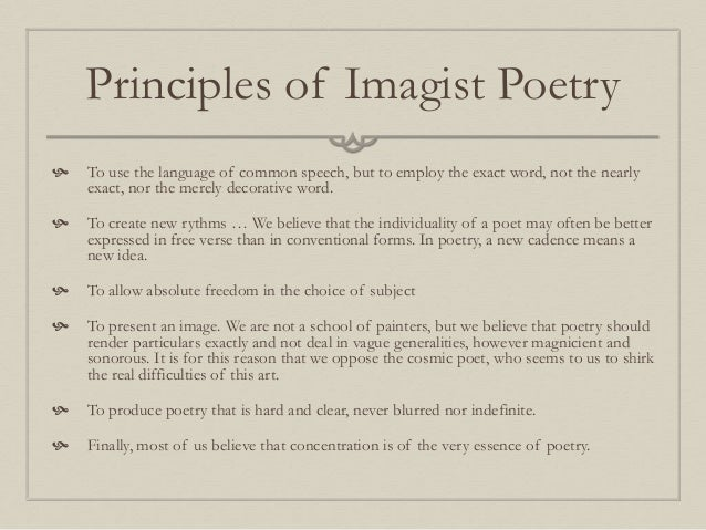 the use of imagism in william carlos williams works William carlos williams (september 17, 1883 – march 4, 1963) was an american poet and physician closely associated with modernism and imagism in addition to his writing, williams had a.
