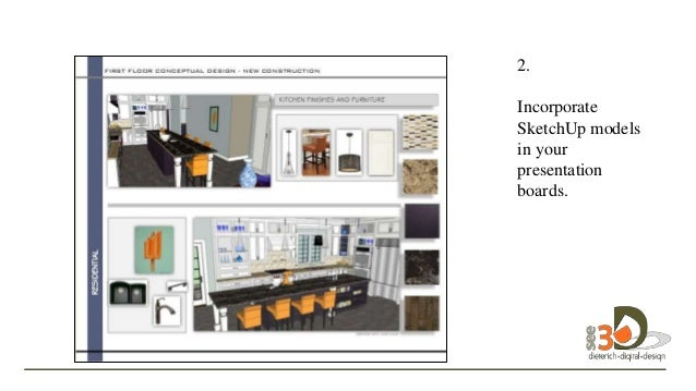 Incorporate SketchUp Models In Your Presentation Boards.