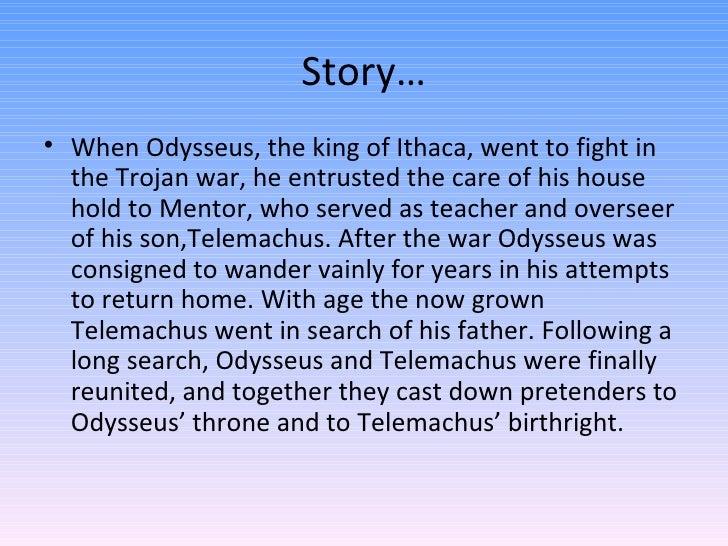 telemachus odysseus father son relationship Father-son relationships in the odyssey the father-son relationships odysseus-telemechus laertes-odysseus poseidon-polyphemus.