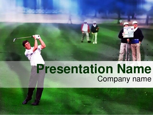 Elite golf tours powerpoint template toneelgroepblik Gallery