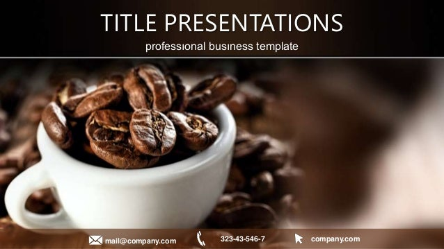 Coffee powerpoint template muckeenidesign cup of black coffee powerpoint templates toneelgroepblik Gallery