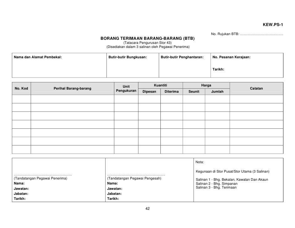 Pp052009 Pengurusan Stor Kerajaan