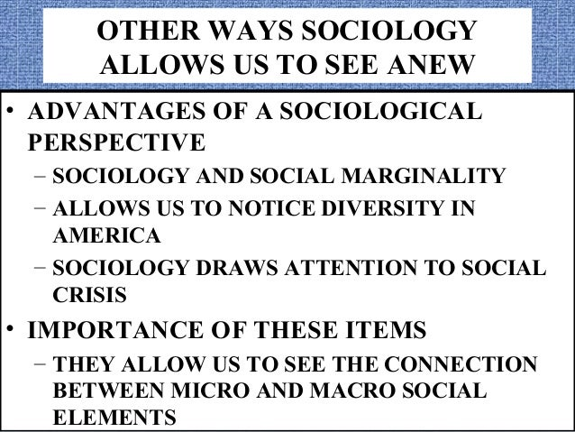 micro and macro sociology Micro vs macro micro and macro are prefixes that are used before words to make them small or big respectively this is true with micro and macroeconomics, micro and macro evolution, microorganism, micro lens and macro lens, micro finance and macro finance, and so on.